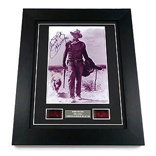 artcandi John Wayne Signed + John Wayne Film Cells Framed