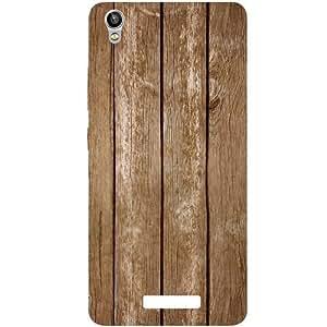 Casotec Wood Design Hard Back Case Cover for Lava Pixel V1
