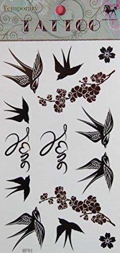 GRASHINE vente chaude Swallow toxique imperméable et non et Plum stckers de tatouage temporaire