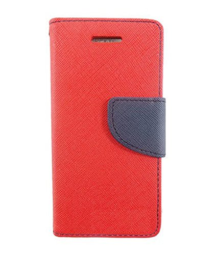 Zocardo Fancy Diary Wallet Flip Case Cover for Karbonn Titanium S5 Ultra -Red with Magnetic Flap and foldable stand  available at amazon for Rs.399