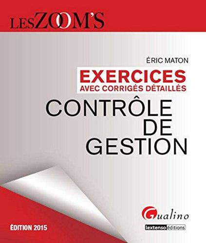 Zoom's - Exercices corrigés Contrôle de gestion