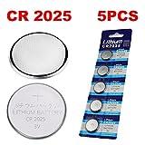 5 Pack CR2032/CR2025/CR2016/CR1632/CR1620/CR1616/CR1220 Batterie 3 Volt Lithium Batterie Münze Knopfzelle 2020 Verfalldatum (CR2025)