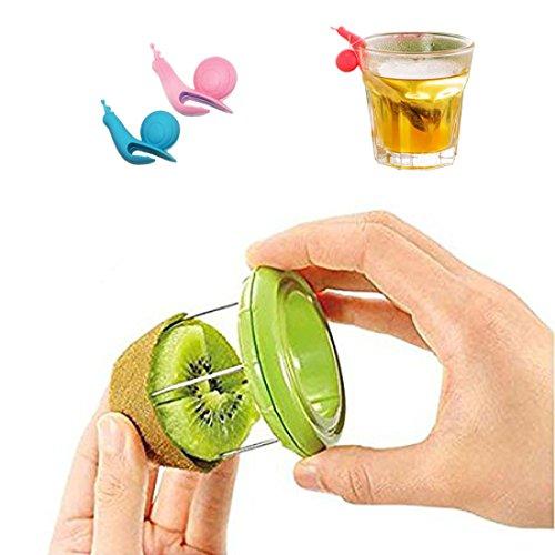 SwirlColor Kiwi Peeler-Edelstahl-Frucht Pitted Peeler Kitchen Gadget