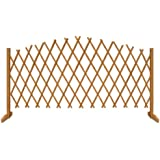 Deuba Freestanding 180 x 107 cm Wooden Garden Trellis Fence Arched Plant Growing Support Screen