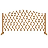 Expanding Trellis Brown Wooden Fence - Growing Support 1.80 m x 1.07 m / 6 ft x 3ft 6