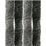 Arsvita Flausch-Vorhang, Viele Variationen, Größe: 90x220 cm, Farbe: Anthrazit-Schwarz