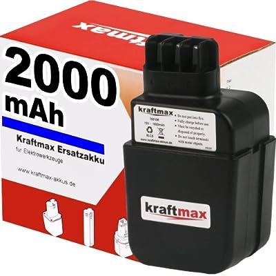 Akku für METABO 631179 - Flachkontakt - 12V / 2000mAh / Ni-Cd - MARKENZELLEN in Profiqualität für maximale Power und lange LEBENSDAUER