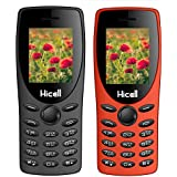 Hicell C1 Tiger (Combo Of Two MOBILES) Dual Sim Mobile Phone With Digital Camera And 1.8 Inch Screen (Grey+Orange)