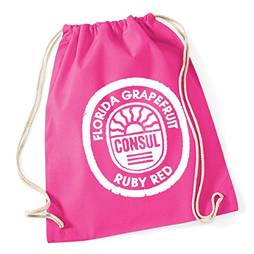 HippoWarehouse Florida Gfruit Consul Ruby Red Label Drawstring Cotton School Gym Kid Bag Sack 37cm x 46cm, 12 litres