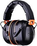 Ear Defender, Tacklife HNRE1 Comfortable Ear Muffs 34dB SNR Noise Canceling Hearing Protector, Fits Adult and Kids for Shooting, Construction, Reading, Hunting, Studying, Yard Work