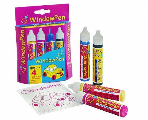 Hobby Line 41150 - C2 Glas Design Window Pen Set