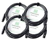 4er Set Pronomic XFXM-5 Mikrofonkabel (5m Länge, XLR female 3-pol -> XLR male 3-pol, Stecker handgelötet, säure- und ölfest, Spannzangen-Zugentlastung) schwarz