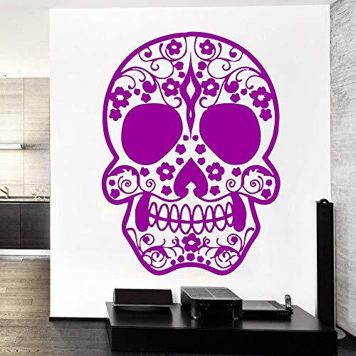 100 Norwegischen Öl-qualität (Qsdfcc Entworfen Tattoo Gesicht Zuckerschädel Vinyl Wandbild Kreative Kunst Wandaufkleber Home Room Decor Blumenmuster Wandbild 11-6 32x42 cm)