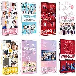 LHL BTS Postal de LoveYourself BTS Bangtan Boy Rap Monster BTS Jimin BTS Jin BTS Suga BTS Jungkook BTS Koya BTS V BTS J Hope BTS Pegatina Poster para los fanáticos de BTS