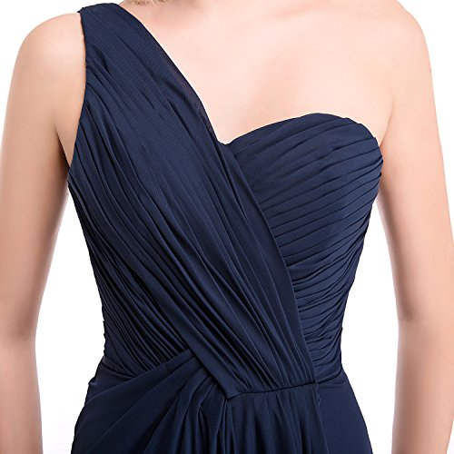 Bridal_Mall - Robe - Asymétrique - Sans Manche - Femme Bleu - Bleu marine