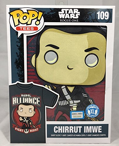 funko pop Tees 109 Exclusive Star Wars Rogue One Chirrut Imwe T-Shirt (Barnes and Noble Exclusive)