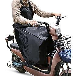 YOHOOLYO Cubre Piernas para Moto Universal Manta para Scooter Impermeable Oxford - Color Negro