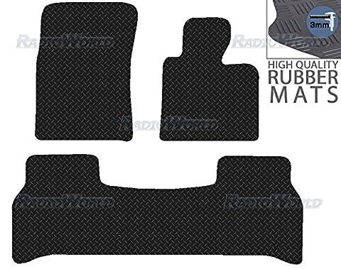 Range/Land Rover Vogue 2002 - 2012 Black Floor Rubber Tailored Car Mat 3mm 3pc