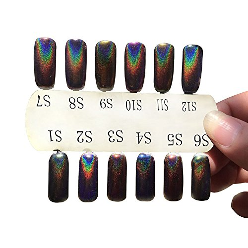 LHWY 2016 1g / BoxLaserSliver ongles Glitter poudre Shinning ongles miroir poudre maquillage Nail Art DIY