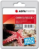 AgfaPhoto APCCLI521TRID Tinte für Canon MP450, 31.5 ml, cyan/magenta/gelb