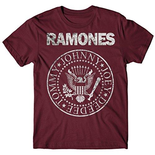 LaMAGLIERIA Camiseta Hombre Ramones - Grunge Print T-Shirt Punk...