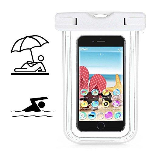 Smartphone Schutzhülle | Mobiwire Taima | Wasserdichte | Staubdichte Handy Beachbag | HBB Weiß