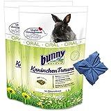 2 x 4 kg Bunny Kaninchen Traum Oral Nagerfutter Hasen Kamille + Microfasertuch