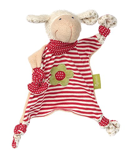 sigikid, Mädchen, Schnuffeltuch Organic Collection, Schaf, Rot/Weiß, - Tuch Puppe Baby