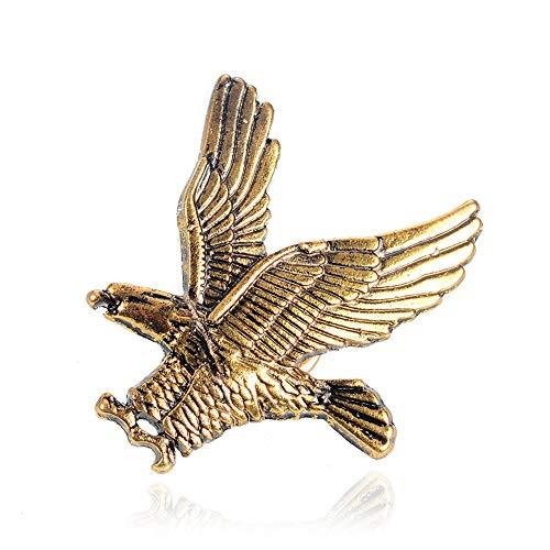 Wings Eagle Kostüm - Ningz0l Brosche Spread Wings Eagle Legierung Brosche West Montage Zubehör Mini Eagle Abzeichen Kragen Schmuck 2,5 cm * 3,5 cm