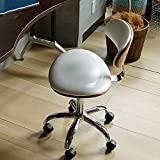 DESK CHAIR Nordisch Pu Leder Kaffee Schreibtischstuhl Drehstuhl Gaming Stuhl,Kinder Studie Kunst Bürostuhl Schreibtischstuhl Europäischen Solide Holz Sitz-Weiß 40x49x81cm(16x19x32)
