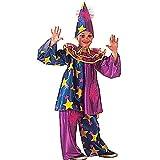 Widmann WDM38617 - Costume Per Bambini Star Clown (140 cm/8-10 Anni ), Multicolore, XS