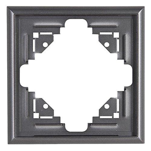 Preisvergleich Produktbild Kopp 309115065 Malta Abdeckrahmen für senkrechte und waagerechte Montage 1-fach, silber-anthrazit
