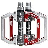 Pedali bicicletta Skyrocket 9/16 ' - rosso/argento
