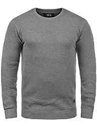 SOLID Karl O-Neck Herren Strickpullover mit Rundhalskragen aus 100% Baumwolle