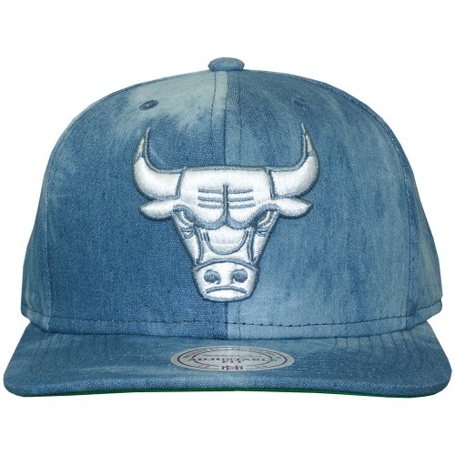 Mitchell & Ness - Casquette Snapback Homme Chicago Bulls Blue Dyed Denim - Blue
