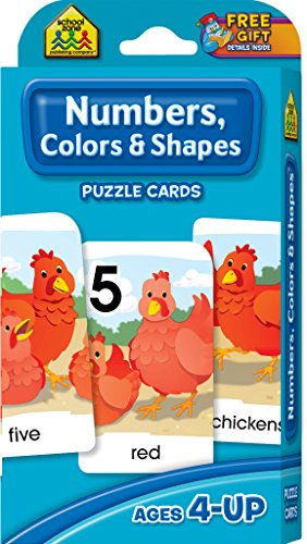 Game Cards-Numbers, Colors & Shapes 54/Pkg