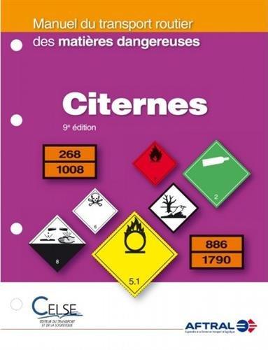 Manuel du transport routier des matières dangereuses : Citernes
