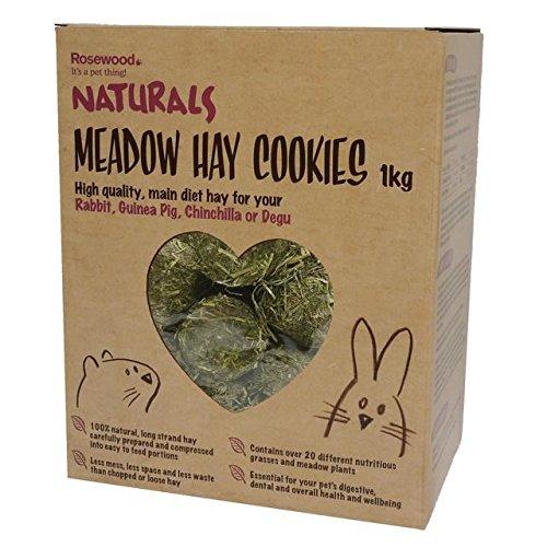 Palisander Langeweile Brecher Natürliche Wiese Heu Cookies 1 Kg (Packung mit 2) (Cookie Hund Huhn,)