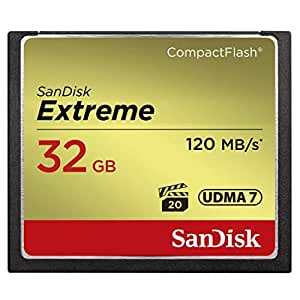 SanDisk Extreme 32GB CompactFlash Memory Card UDMA 7 Speed Up To 120MB/s