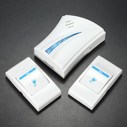 water-wood-36-music-tune-melody-2-remote-button-1-wireless-doorbell-door-bell-receiver