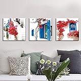 Challeng - Adesivo Decorativo da Parete 5D Full Square, con Strass, per Decorazione Fai da Te, Tela, b, ♥