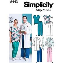 Simplicity 5443 BB - Patrones de Costura para Uniformes médicos (Tallas Grandes)