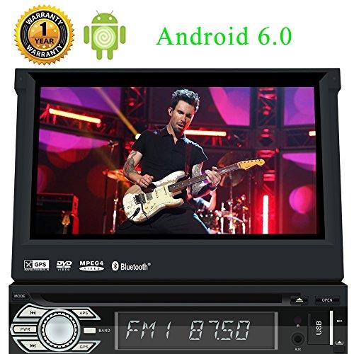 7-Zoll-Panel Detachaple Android 6.0 Auto-Stereo Quad-Core-Eibisch-System Sinlge 1Din Bluetooth Musik Radio-Unterst¨¹tzungs-GPS-Navigation SD / USB-Spiegel-Link Lenkrad-Steuerung Auto-CD-DVD-Video