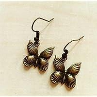 regalo di san valentino orecchini farfalle vintage bronzo primavera romantici