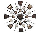 S&D Wand-Objekt aus Metall braun/beige, D 69 cm, Wandbild Wanddekoration
