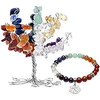 JOVIVI 7 Chakras Geldbaum Lebensbaum Dekoration + Lotus Blume Anhänger Balance Reiki Yoga-Armband Stein Dekor... preisvergleich bei billige-tabletten.eu