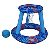 SwimWays - 6038059 - Panier de Basketball + Ballon Hydro - Jeu de Piscine