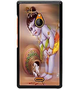 ColourCraft Lord Krishna Design Back Case Cover for NOKIA XL