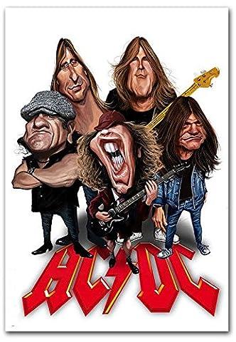 AC/DC Rock Band Comic Art PHOTO FRIDGE MAGNET