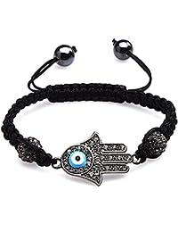 Mode Eye Charm Hand Kristallkugel Armband Armkette